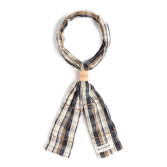 OV CHECK SCARF (navy)