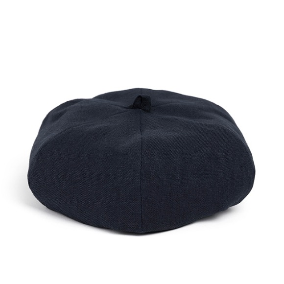 LINEN-COTTON BERET (navy)
