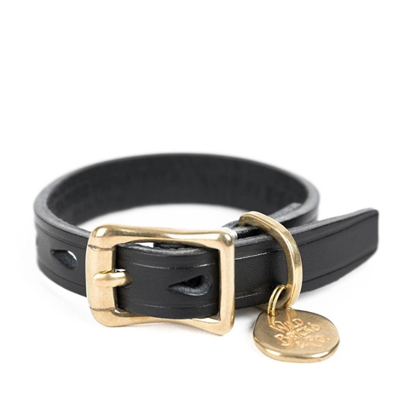 CB BRASS LEATHER BRACELET (black)