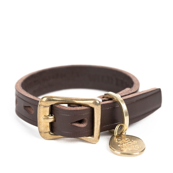 CB BRASS LEATHER BRACELET (dark brown)