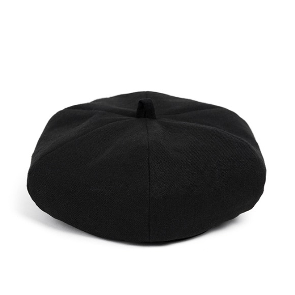 LINEN-COTTON BERET (black)