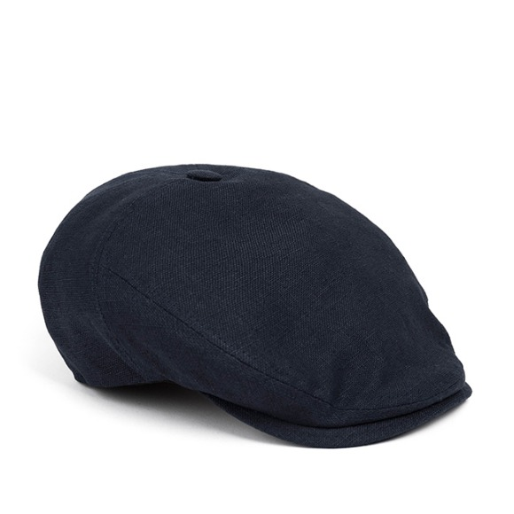 LINEN-COTTON HUNTING CAP (navy)