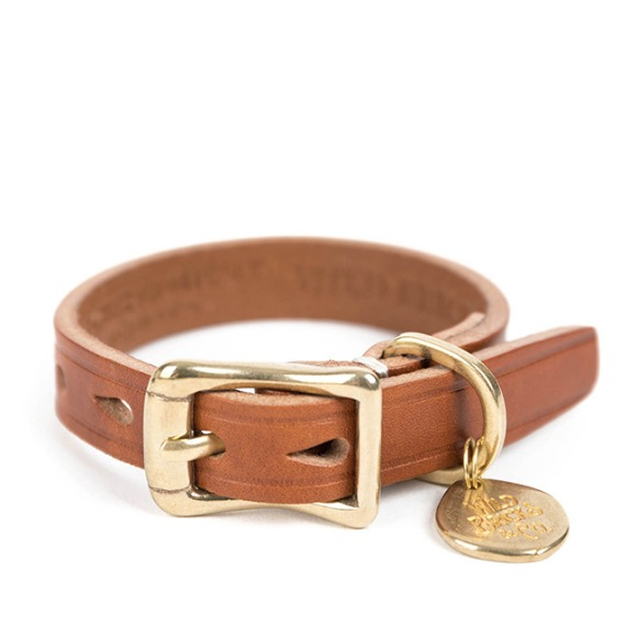 CB BRASS LEATHER BRACELET (brown)
