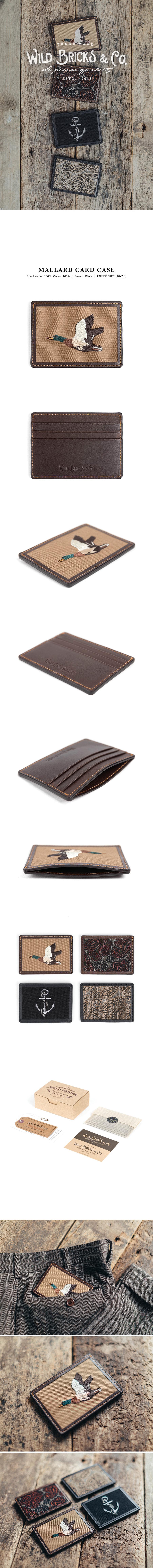 와일드 브릭스(WILD BRICKS) MALLARD CARD CASE (brown)